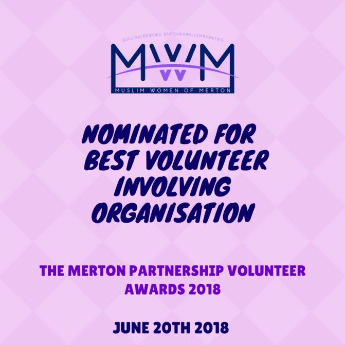 Nominatedfor best volnteer involving organistaion (2)